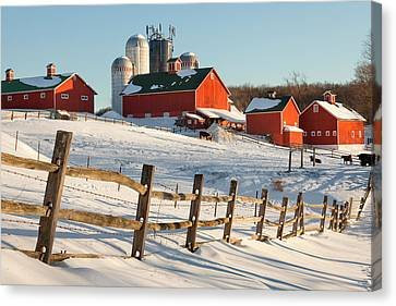 Happy Acres Farm Canvas Print by Bill Wakeley