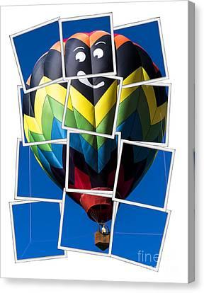 Happy Balloon Ride Canvas Print by Edward Fielding