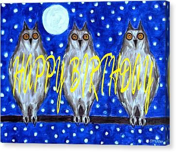 Happy Birthday 13 Canvas Print by Patrick J Murphy