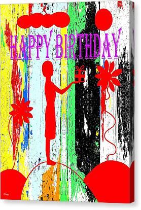 Happy Birthday 7 Canvas Print by Patrick J Murphy