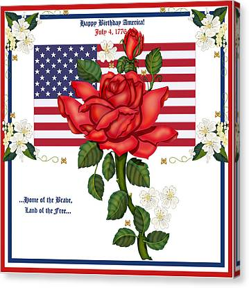 Happy Birthday America Canvas Print by Anne Norskog