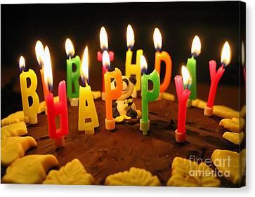 Happy Birthday Candles Canvas Print by Lars Ruecker
