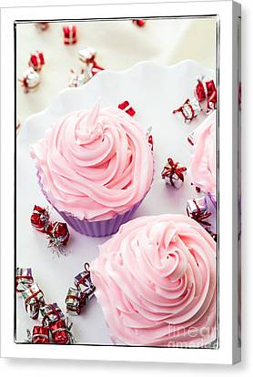 Happy Birthday Cupcakes Canvas Print by Edward Fielding