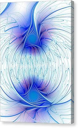 Happy Blue Lights Canvas Print by Anastasiya Malakhova