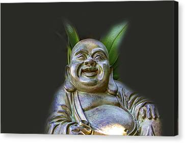 Happy Buddha 2 Canvas Print by Calazones Flics