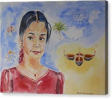 Happy Diwali  Canvas Print by Geeta Biswas