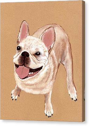 Happy Dog Canvas Print by Anastasiya Malakhova