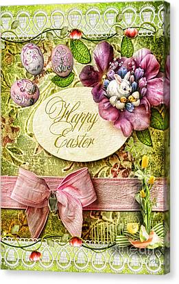Happy Easter 2 Canvas Print by Mo T
