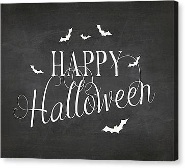 Happy Halloween Canvas Print by Amy Cummings