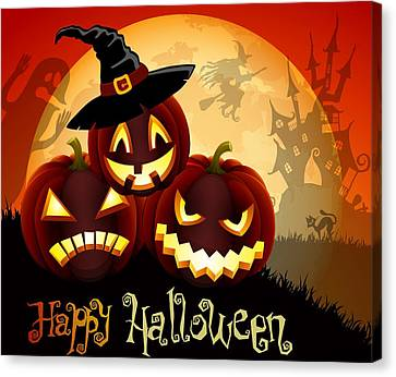 Happy Halloween Canvas Print by Gianfranco Weiss