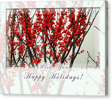 Happy Holidays Canvas Print by Xueling Zou