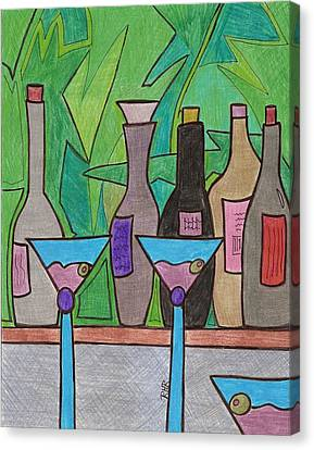 Happy Hour Canvas Print by Ray Ratzlaff