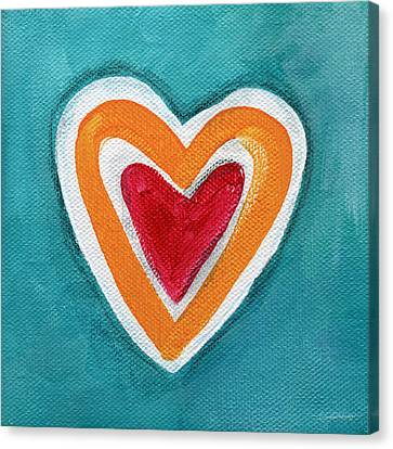 Happy Love Canvas Print by Linda Woods