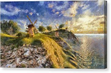 Happy Mills Canvas Print by Marina Likholat