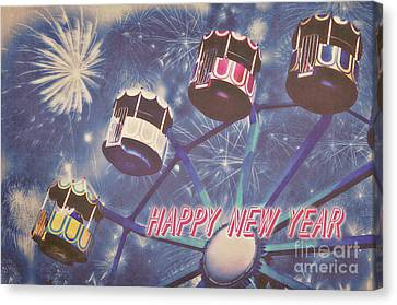 Happy New Year Canvas Print by Angela Doelling AD DESIGN Photo and PhotoArt