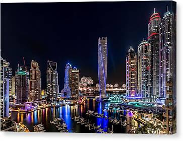 Happy New Year Dubai Canvas Print by Vinaya Mohan
