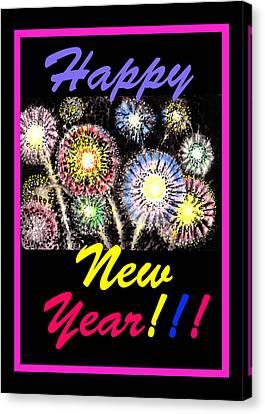 Happy New Year Canvas Print by Irina Sztukowski