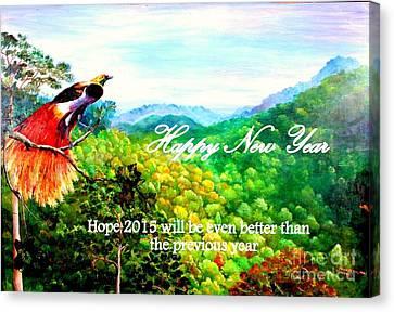 Happy New Year Canvas Print by Jason Sentuf