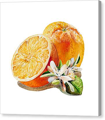 Happy Orange Canvas Print by Irina Sztukowski