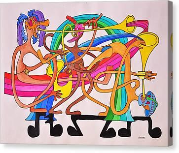 Happy People Horns Canvas Print by Glenn Calloway