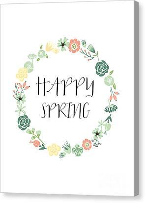 Happy Spring  Canvas Print by Natalie Skywalker