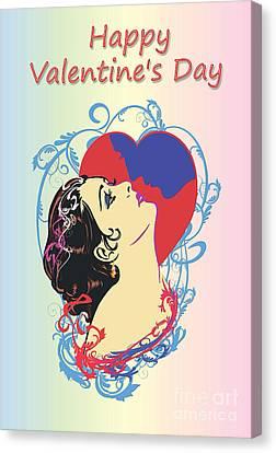 Happy Valentine's Day 1  Canvas Print by Andrzej Szczerski