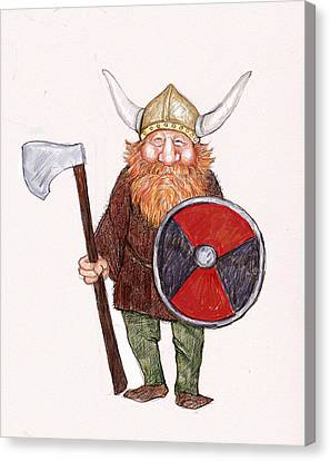 Happy Viking Canvas Print by Peggy Wilson