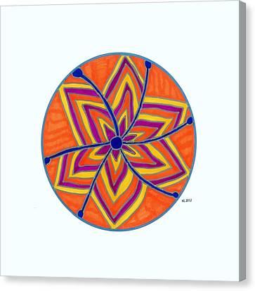 Hara Chakra Flow Canvas Print by Kaia Lyngroth