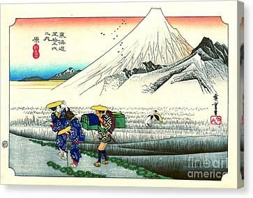 Hara Station Tokaido Road 1833 Canvas Print by Padre Art