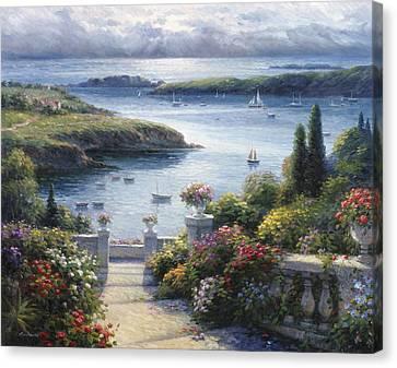 Harbor Garden Canvas Print by Ghambaro