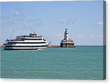 Harbor Light Chicago Canvas Print by Christine Till