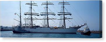 Harbor Maneuvers At A Harbor, Rosmeur Canvas Print by Panoramic Images