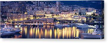 Harbor Monte Carlo Monaco Canvas Print by Panoramic Images