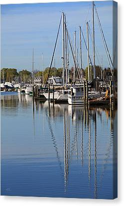 Harbor Reflections Canvas Print by Karol Livote
