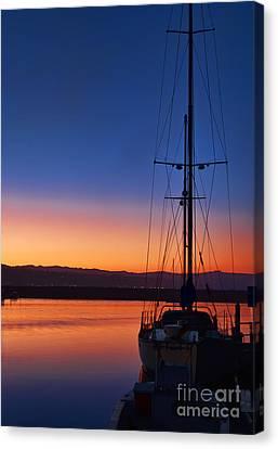 Harbor Sunrise Canvas Print by Eddie Yerkish