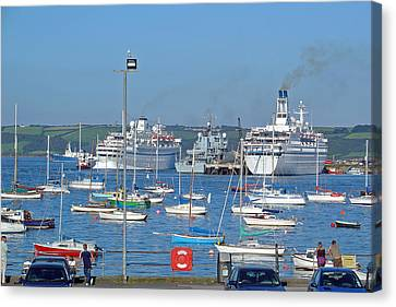 Harbour And Queen's Wharf - Falmouth Canvas Print by Rod Johnson