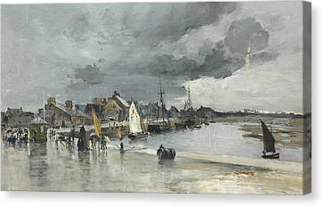 Harbour At St. Vaast The Hague Canvas Print by Frank Myers Boggs