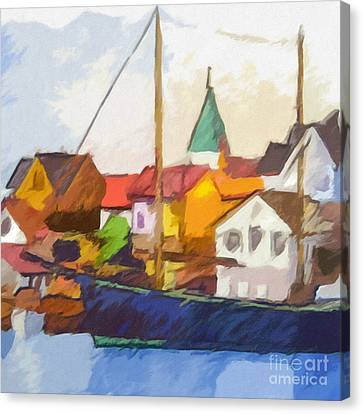 Harbour Seascape Canvas Print by Lutz Baar