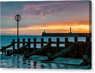 Harbour Sunrise Canvas Print by Dave Bowman