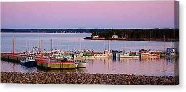 Harbour Sunset Canvas Print by Ron Haist