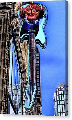 Hard Rock Cafe Seattle Canvas Print by David Patterson
