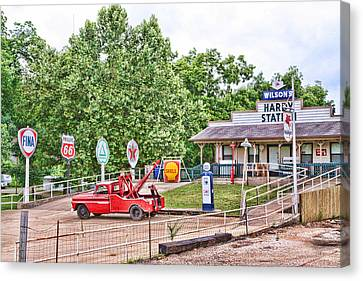 Hardy Station Canvas Print by Audreen Gieger-Hawkins