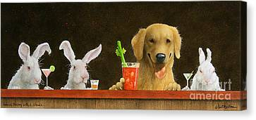 Hare Of The Dog With A Young Blonde... Canvas Print by Will Bullas