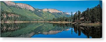 Hariland Lake & Hermosa Cliffs Durango Canvas Print by Panoramic Images