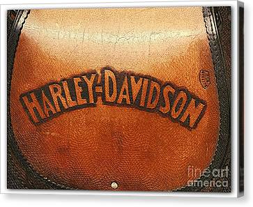 Harley Davidson Leather Tool Bag  Canvas Print by Stefano Senise