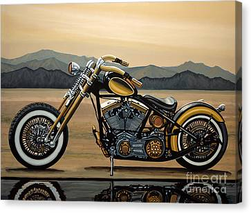 Harley Davidson Canvas Print by Paul Meijering
