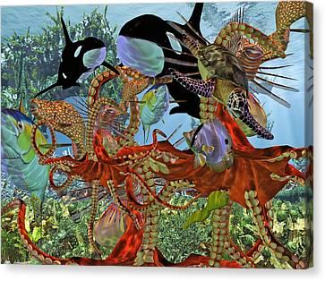 Harmony Under The Sea Canvas Print by Betsy C Knapp