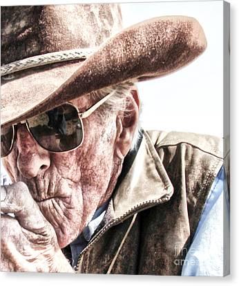 Harney County Oregon Cowboy Canvas Print by Michele AnneLouise Cohen