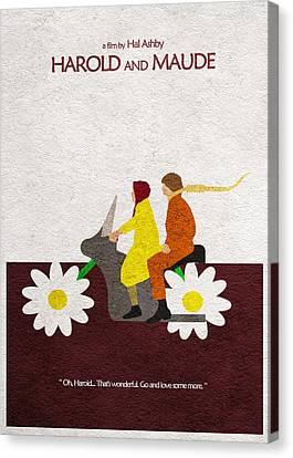 Harold And Maude Canvas Print by Ayse Deniz