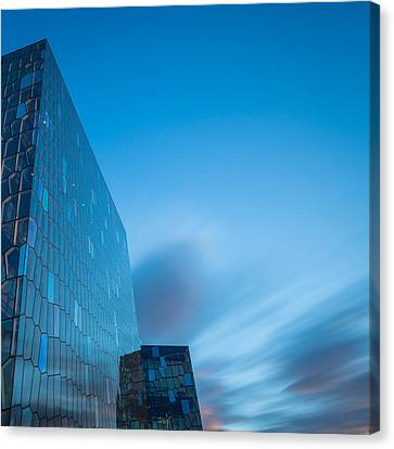 Harpa Concert And Convention Center Canvas Print by Panoramic Images